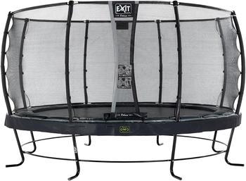Exit Trampolin Elegant Premium 427 cm mit Deluxe Sicherheitsnetz schwarz