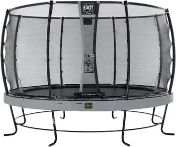 Exit Trampolin Elegant Premium 366 cm mit Deluxe Sicherheitsnetz grau