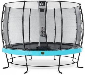 Exit Trampolin Elegant Premium 366 cm mit Economy Sicherheitsnetz blau