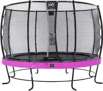 Exit Trampolin Elegant Premium 366 cm mit Deluxe Sicherheitsnetz lila