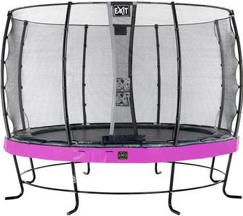 Exit Trampolin Elegant Premium 366 cm mit Economy Sicherheitsnetz lila