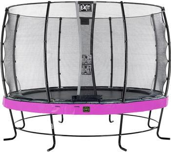 Exit Trampolin Elegant Premium 427 cm mit Economy Sicherheitsnetz lila