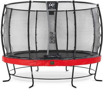 Exit Trampolin Elegant Premium 427 cm mit Deluxe Sicherheitsnetz rot