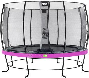 Exit Trampolin Elegant 366 cm mit Economy Sicherheitsnetz lila