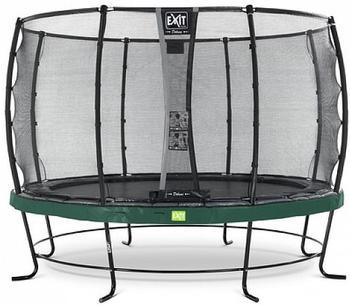 Exit Trampolin Elegant 366 cm mit Deluxe Sicherheitsnetz grün