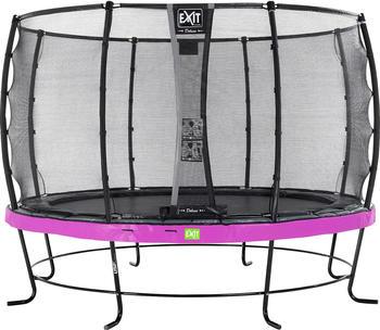 Exit Trampolin Elegant 366 cm mit Deluxe Sicherheitsnetz lila