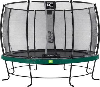Exit Trampolin Elegant 427 cm mit Deluxe Sicherheitsnetz grün