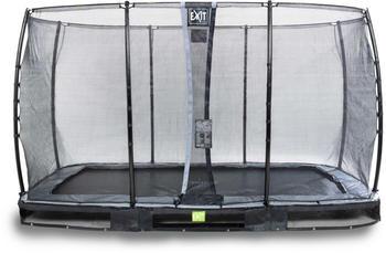 Exit Trampolin Elegant Inground 214x366 cm mit Economy Sicherheitsnetz schwarz