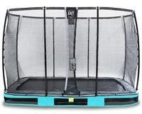 EXIT TOYS EXIT Elegant Inground-Trampolin 214x366cm mit Deluxe Sicherheitsnetz - blau