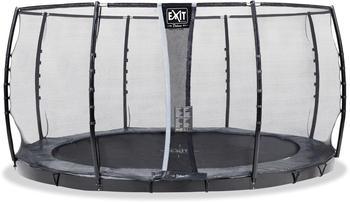 Exit Supreme ebenerdiges Trampolin 427 cm mit Sicherheitsnetz grau
