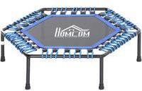 Homcom Fitness-Trampolin für Yoga blau