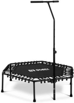 Gymrex Fitness-Trampolin 124,5 x 117 cm inkl. Stange schwarz