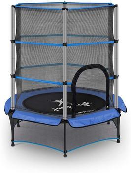 Uniprodo Kindertrampolin Ø mit Sicherheitsnetz - 140 cm - 50 kg blau