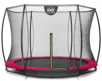 Exit Toys Trampolin Silhouette Ground 244 cm mit Sicherheitsnetz rosa