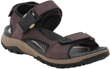 Jack Wolfskin Rocky Path Leather Sandal brown/black