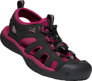 Keen SOLR Sandals Women raspberry wine/black