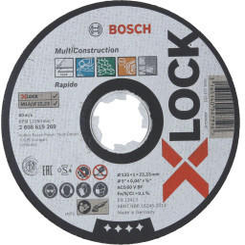 Bosch X-Lock Multi Construction 125 mm (2608619269)