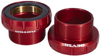 Rotor BSA30 Road/MTB Tretlager 68/73mm Keramik rot 68/73mm