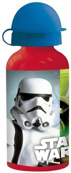 p:os Star Wars Trinkflasche rot/blau 0,4 l