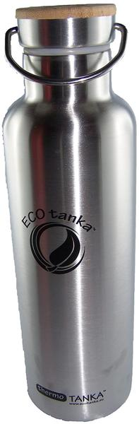 ECOtanka Sports Tanka mit Bambus-Verschluss Edelstahl 0,8 l