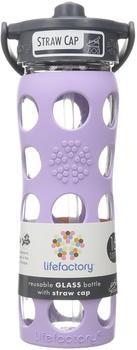 lifefactory Glass Bottle Straw Cap 0.475L Lilac