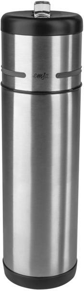 Emsa Mobility Isolierflasche 0,5 l Edelstahl/schwarz