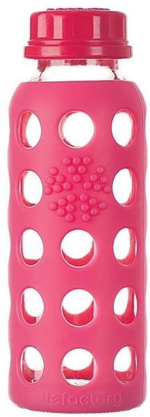 lifefactory Glass Bottle 0.25L Raspberry