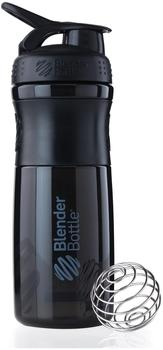 BlenderBottle Sportmixer 820ml schwarz-schwarz transparent