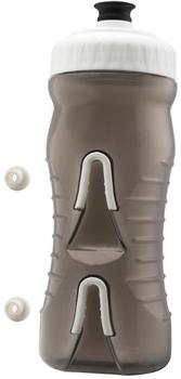 Fabric Waterbottle Cageless (600ml) black-white