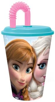p:os Trinkbecher Disney Frozen mit Strohhalm, 450 ml