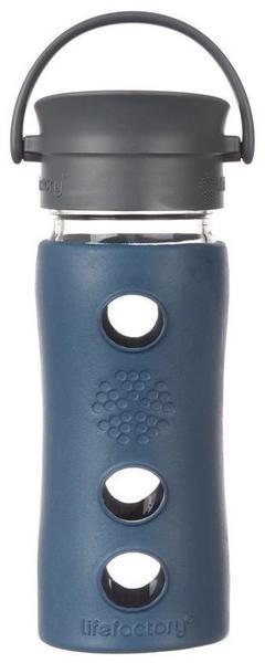 Lifefactory Glas-Trinkflasche marine 0,35 l
