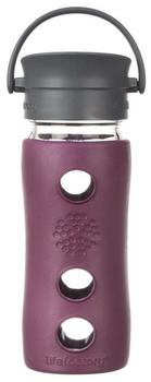 Lifefactory Café Collection Glas-Trinkflasche plum 0,35 l