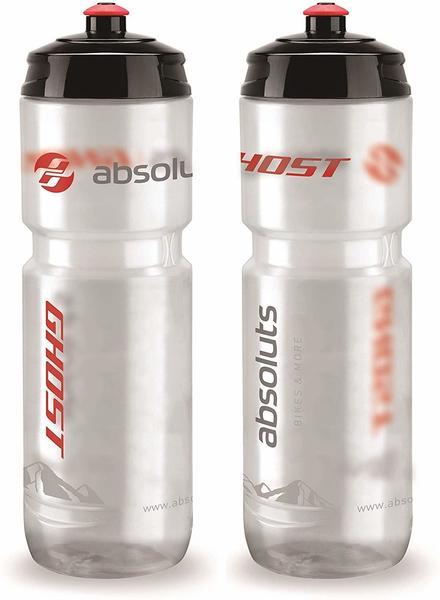 Elite Absoluts Ghost 0,8 l clear/black/red 2 Stück