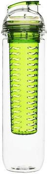 Sagaform Fresh Flasche mit Früchteeinsatz grün