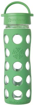 lifefactory Glass Bottle Classic Cap 0.475L Grass Green