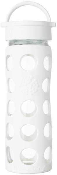 lifefactory Glass Bottle Classic Cap 0.475L White