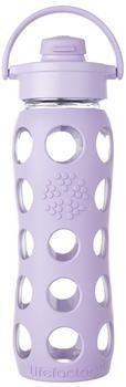 lifefactory Glass Bottle Flip Top Cap 0.65L Lilac