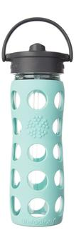 lifefactory Glass Bottle Straw Cap 0.475L Turquoise