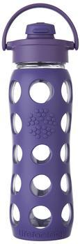 lifefactory Glass Bottle Flip Top Cap 0.65L Royal Purple