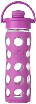 lifefactory Glass Bottle Flip Top Cap 0.475L Huckelberry
