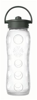 lifefactory Glass Bottle Straw Cap 0.65L Transparent