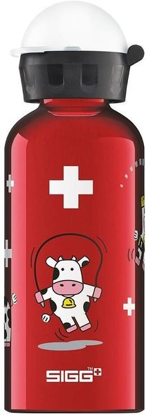 Sigg Funny Cows Trinkflasche, Rot/Weiss/Schwarz, 0.4 L