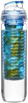 Sagaform Fresh Flasche mit Früchteeinsatz blau