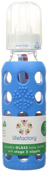 lifefactory Babyflaschen Glas Ocean Blue 3-6 Monate 250ml