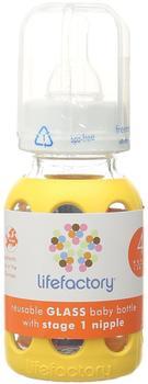 lifefactory 10270 Glas-Babyflaschen, 120 ml, gelb