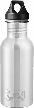 360° Degrees Stainless Bottle 0.55L Silver