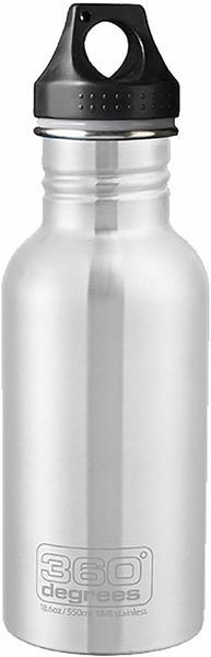 360° Degrees Stainless Bottle 0.55L Silver