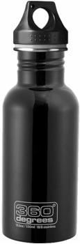 360° Degrees Stainless Bottle 0.55L Black