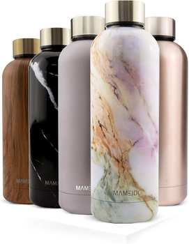 Mameido Edelstahl-Trinkflasche Pearl Marble Gold 750 ml