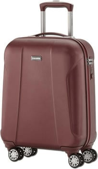 Travelite Elbe Two 4-Rollen Trolley S 55 cm 40 l granat